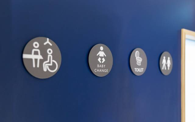 Changing Places toilet door sign